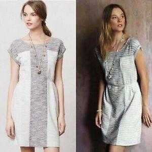 Anthropologie | Spacedye Knit Dress Gray Pockets L